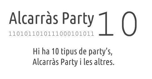 Logo AlcarràsParty 2012